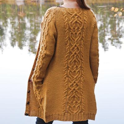 The Comeback Cardigan :: cardigan knitting pattern