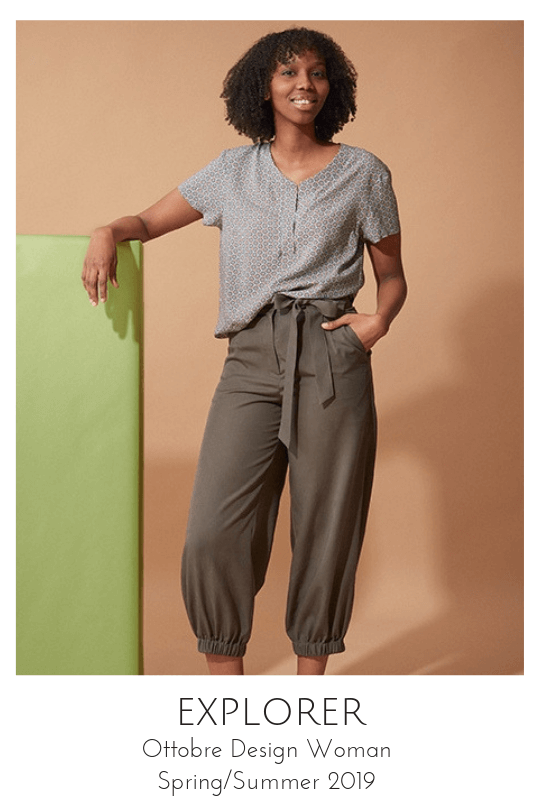 Explorer pants sewing pattern from Ottobre Design Woman Spring/Summer 2019