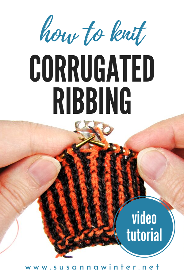 Alternating Two-Color Long-Tail Cast-On For Corrugated Ribbing [Tutori Knit - Knitting Tutorial