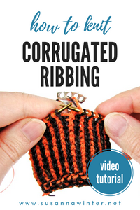 Alternating Two-color Long-tail Cast-on for Corrugated Ribbing [TUTORIAL]