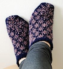 Longest Night :: slipper knitting pattern