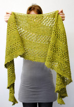 Lime Chamraj :: shawl knitting pattern