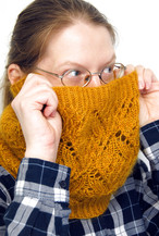 Golden Hour Cowl :: cowl knitting pattern