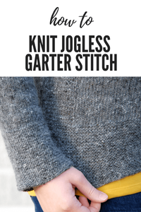 How to Knit Jogless Garter Stitch in the Round [Tutorial]