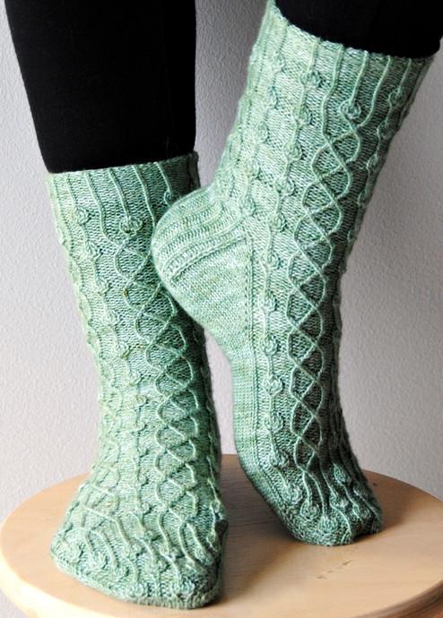Printempo :: sock knitting pattern
