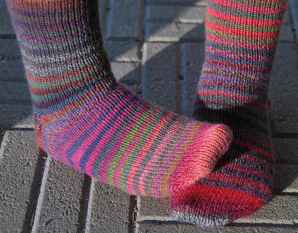 Striped socks in Schoppel Wolle Edition 3.0