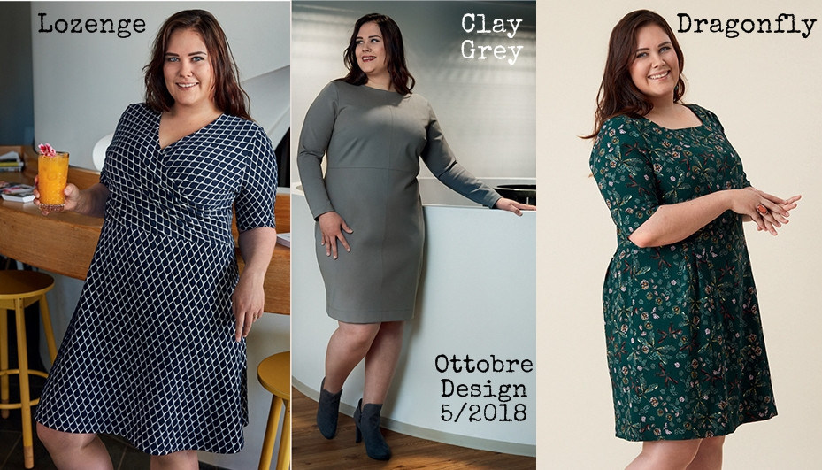 Three dresses from Ottobre Design 5/2018