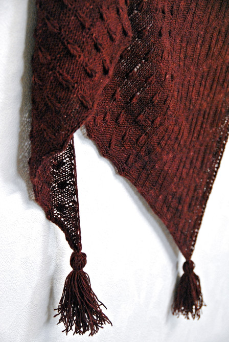 Ardisia :: shawl knitting pattern