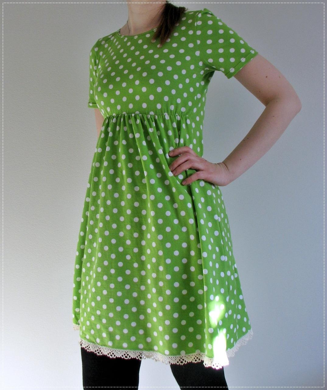 Green Polka Dot Vilma