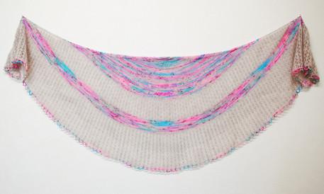 Tears in Rain :: shawl knitting pattern
