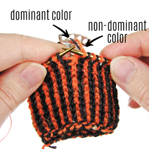 Knit 1, purl 1 corrugated ribbing
