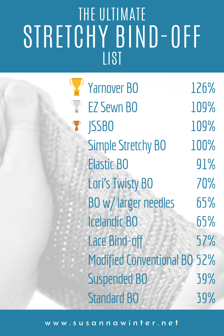 The ultimate stretchy bind-off list