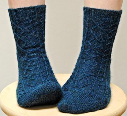 Burnham :: sock knitting pattern
