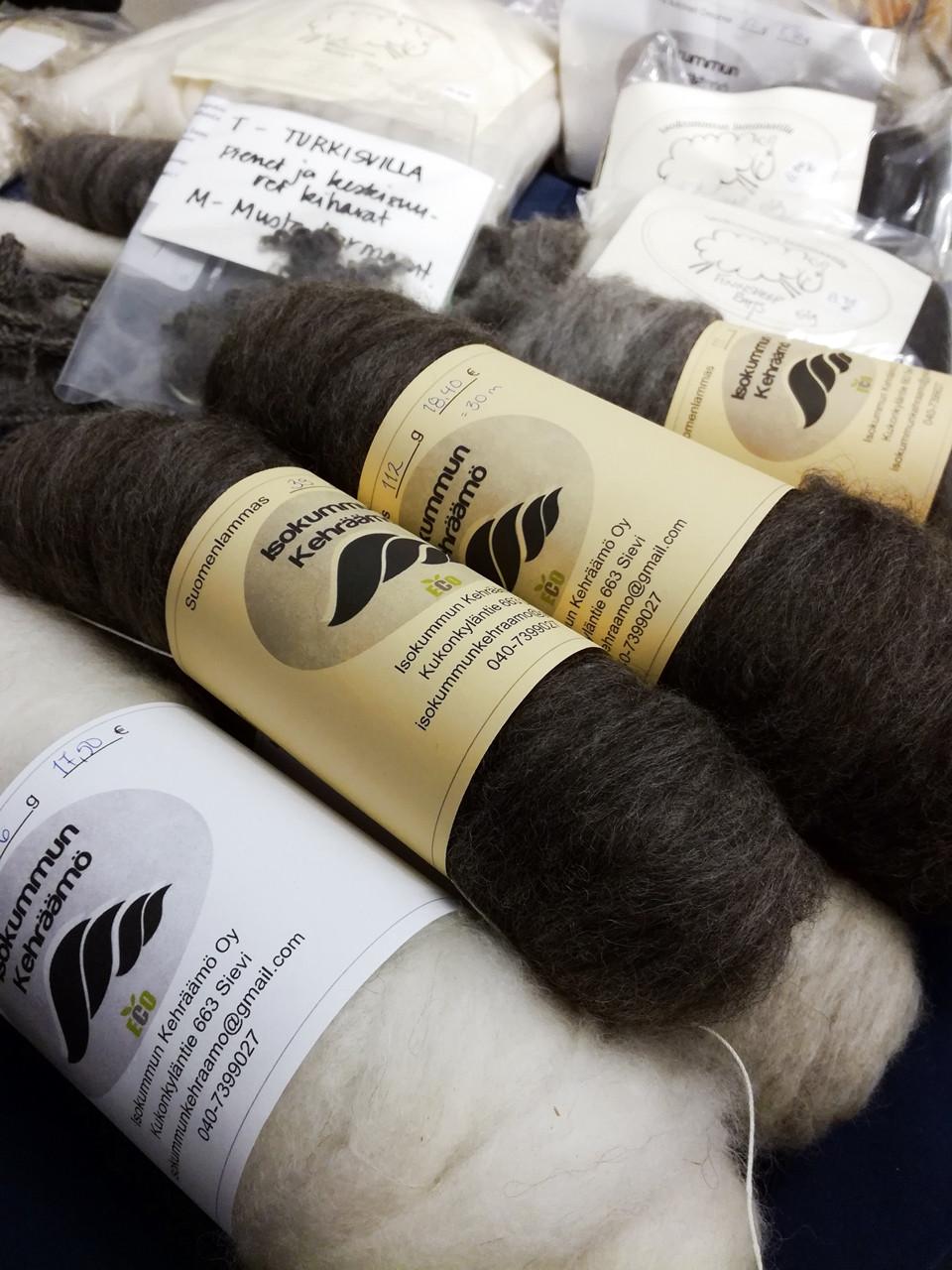 Finnsheep wool from Isokummun tila