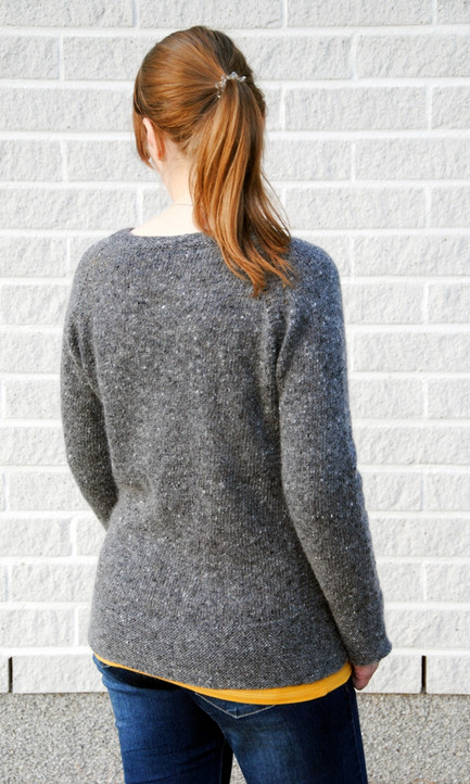 Tweed Is the New Black :: sweater knitting pattern