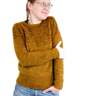 Golden Assam :: sweater knitting pattern