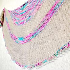 Tears in Rain :: shawl knitting patternn