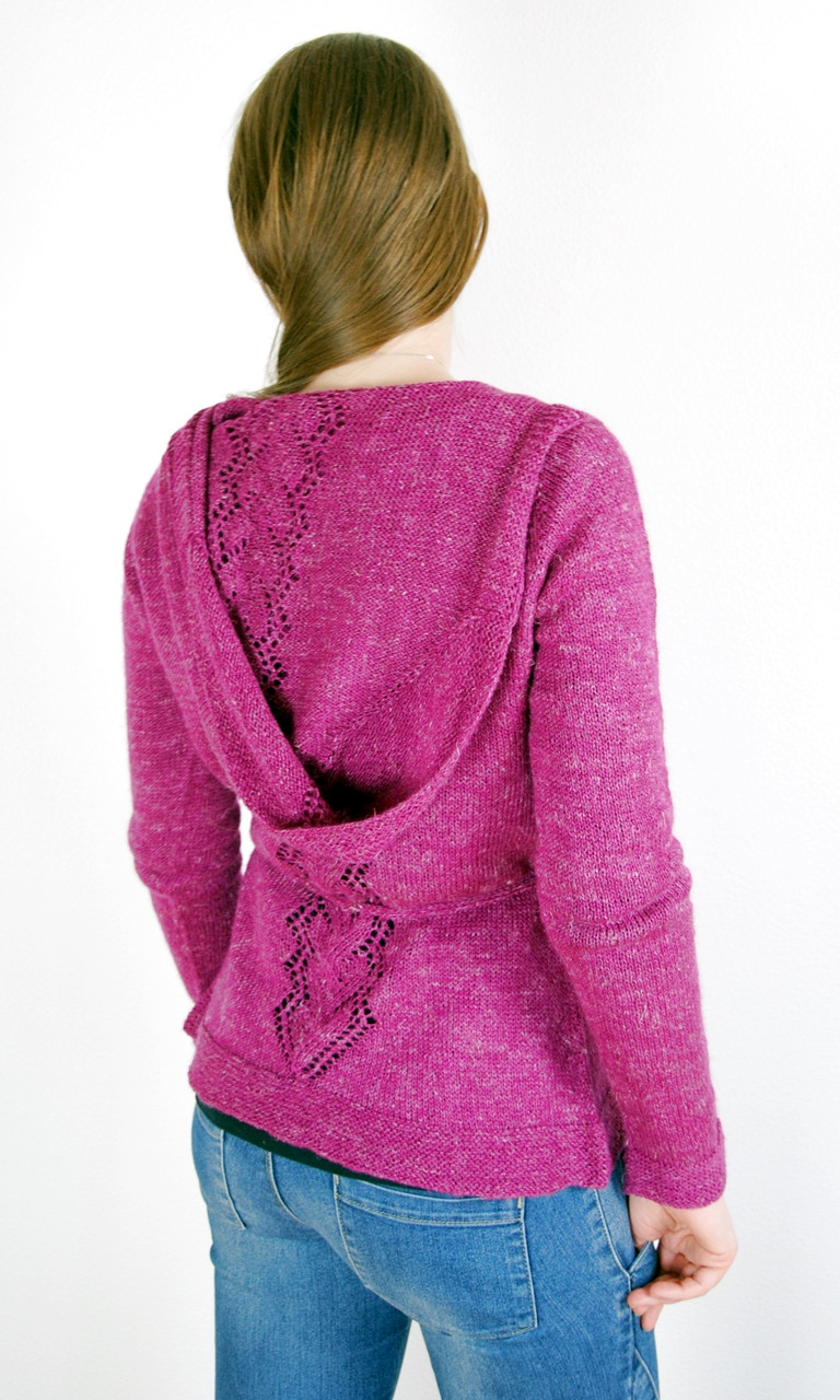 Maypop Hoodie :: a hooded cardigan knitting pattern