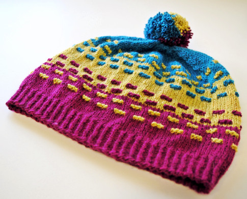 Highlighter Hat :: hat knitting pattern
