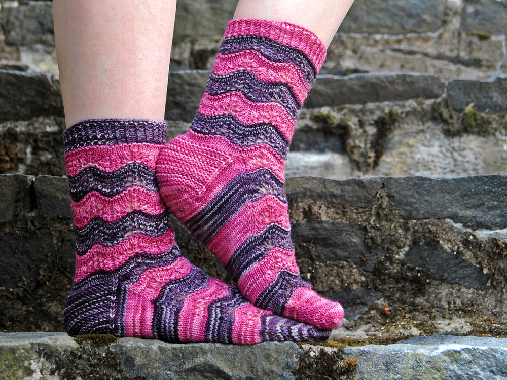 Garter stitch heel flap on Sorelle socks