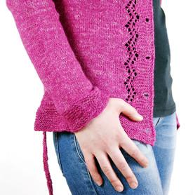 Maypop Hoodie :: cardigan knitting pattern