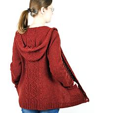 Zingiber :: cardigan hoodie knitting pattern