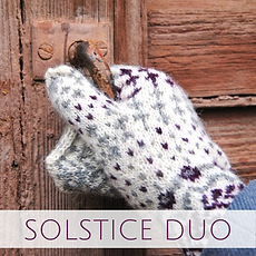 Solstice Duo :: set of accessory knitting patterns