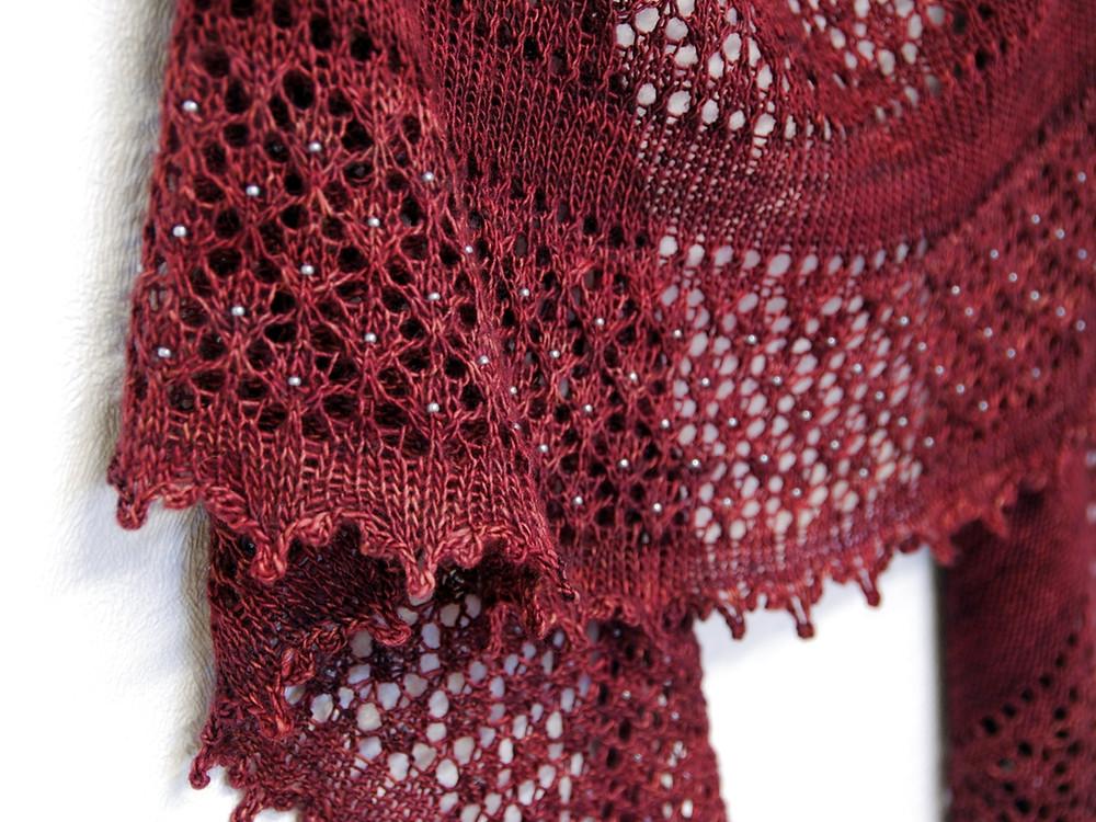 Fenberry Shawl beaded shawl pattern