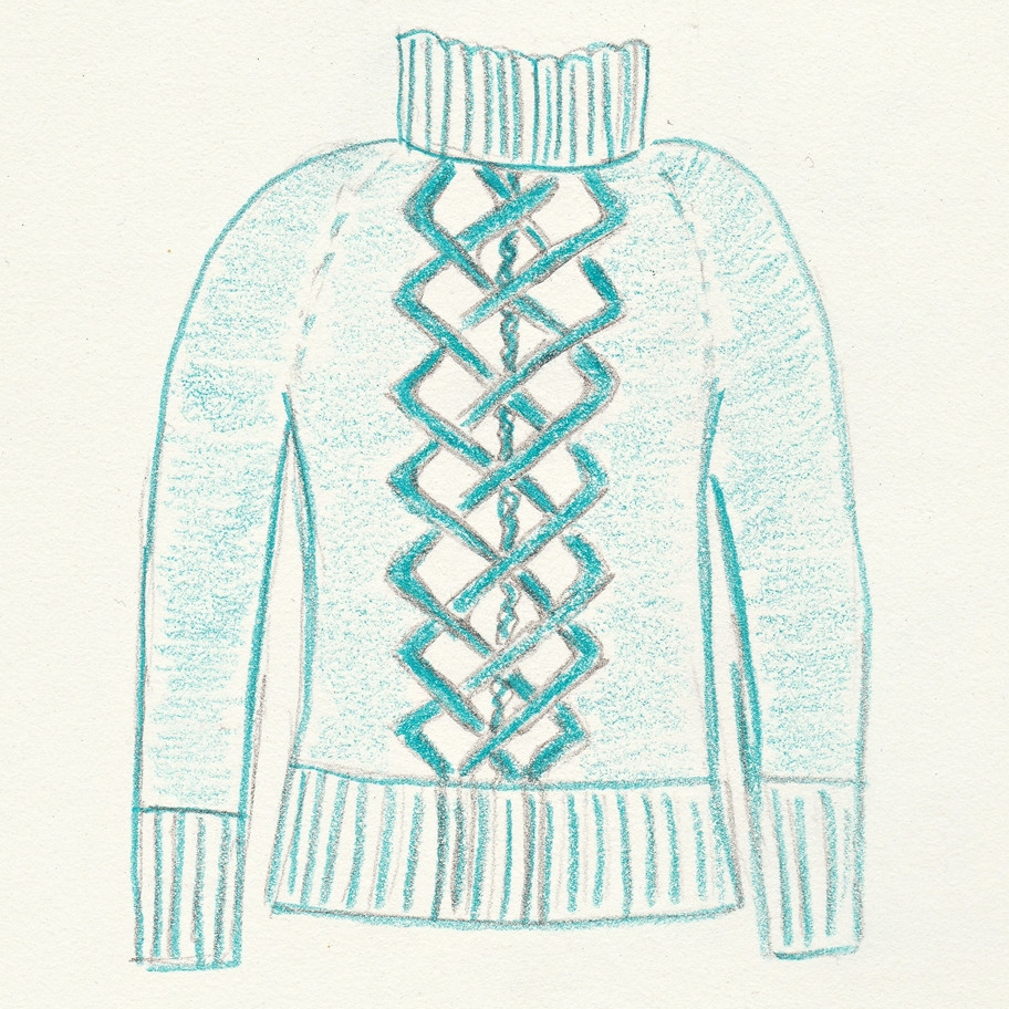 Sketch for the Ikirouta sweater