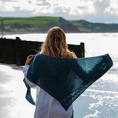 Irish Sea :: shawl knitting pattern