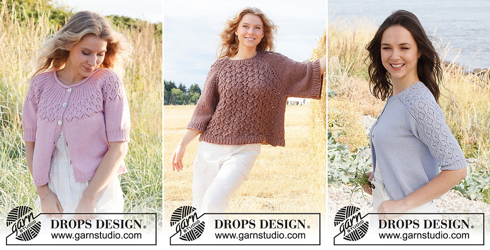 Lacy sweaters and cardigans on the Garnstudio Spring/Summer 2021 collection.
