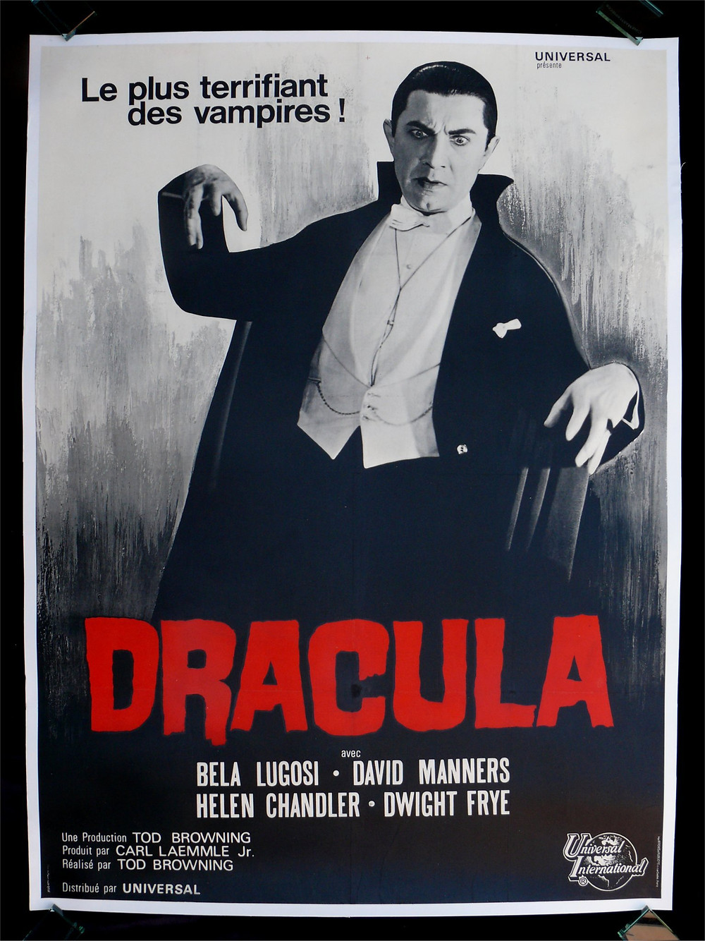 French movie poster for Dracula (1931), directed by Tod Browning