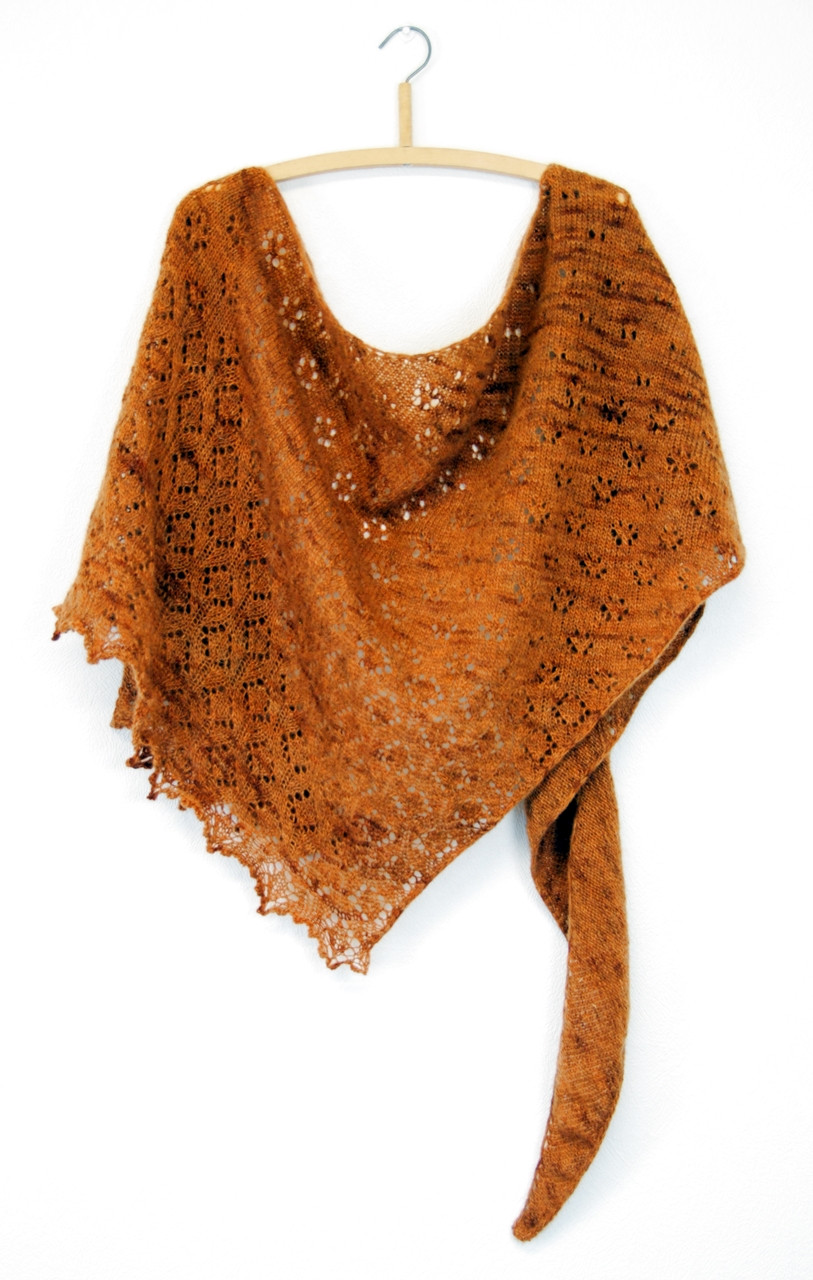 Bronze Age :: shawl knitting pattern