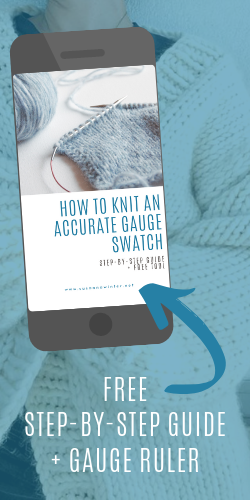 how to knit accurate gauge swatch mailer