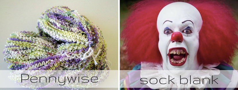 Unraveled sock blank vs. Pennywise