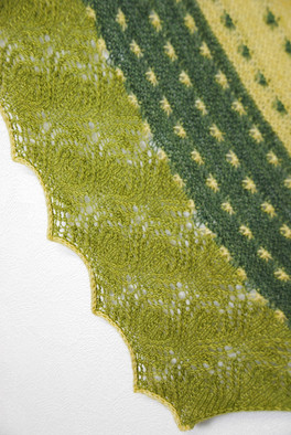 Spring It On! :: shawl knitting pattern