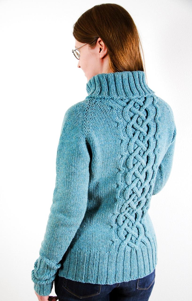Ikirouta :: cabled sweater knitting pattern