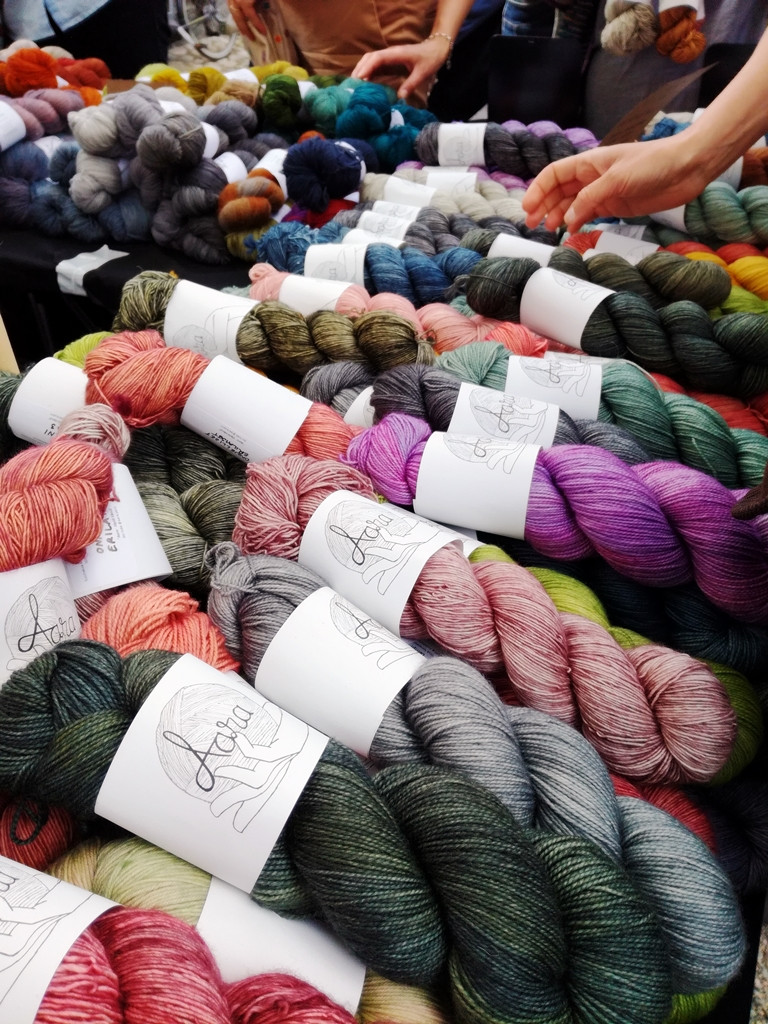 Brand new Aara Yarn was launched at Knit Fest 2019