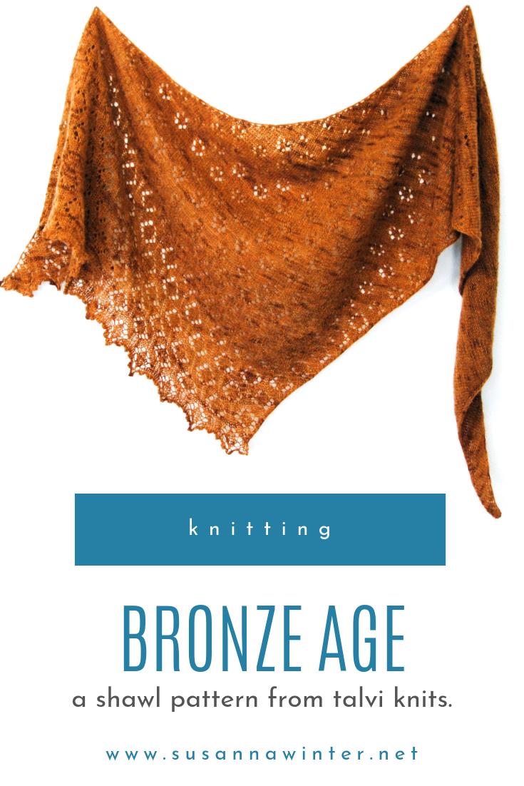 Bronze Age shawl knitting pattern :: talvi knits.
