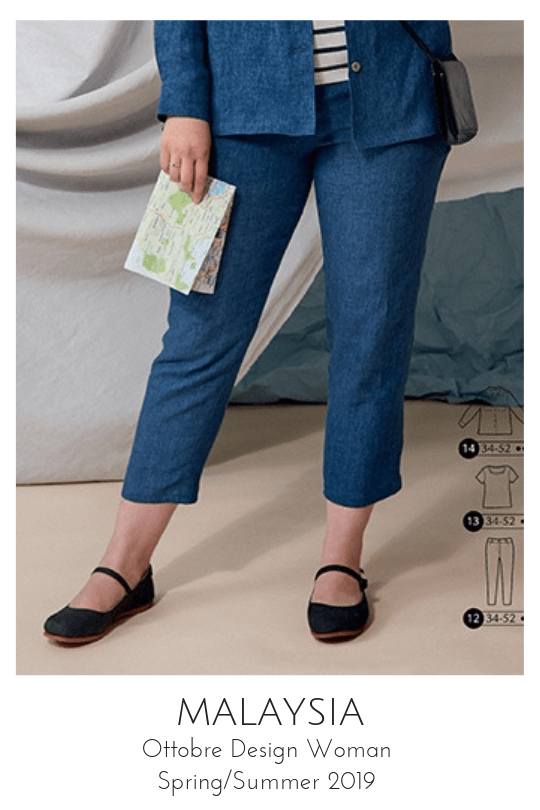 Malaysia pants sewing pattern from Ottobre Design Woman Spring/Summer 2019