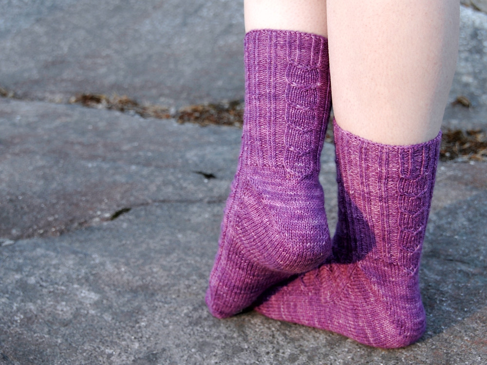 Umpu socks feature the Fleegle Heel