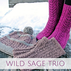 Wild Sage Trio :: set of accessory knitting patterns