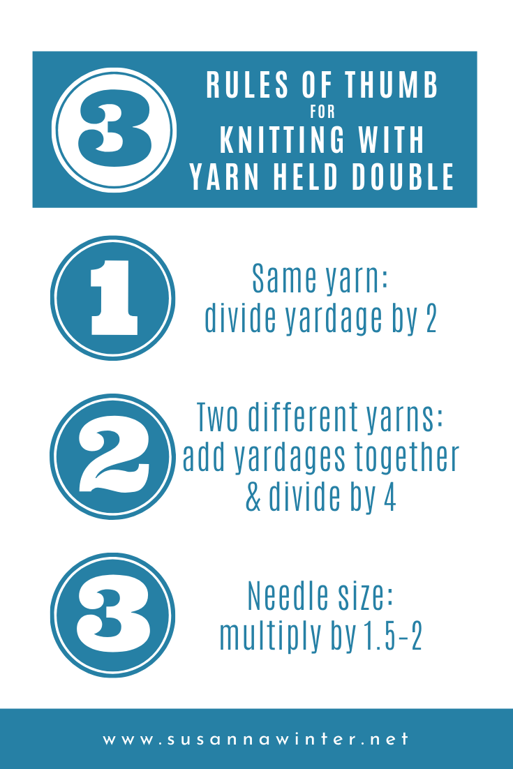 3 Rules of Thumb for Knitting with Yarn Held Double