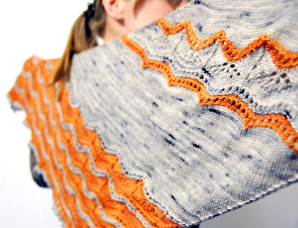 Chamomile Dreams :: shawl knitting pattern