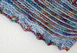 Echo Azure :: shawl knitting pattern