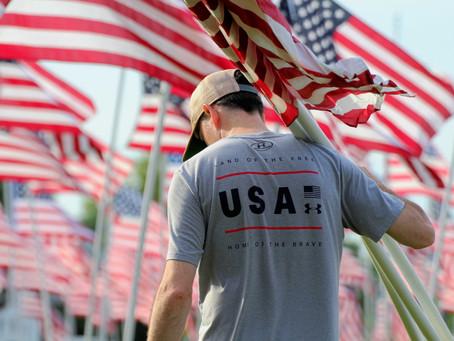 Flag display honors heroes in Talbot County