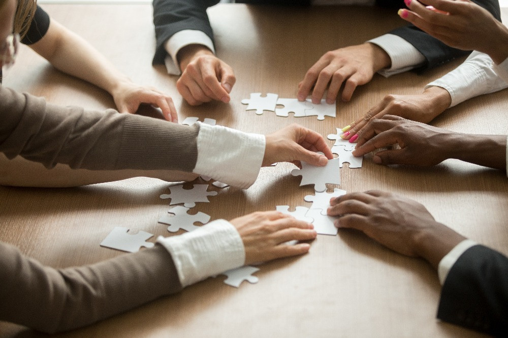 Winning team solving problems together