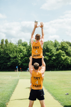Try for Jake line out practice