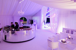 Mirrored bar in marquee
