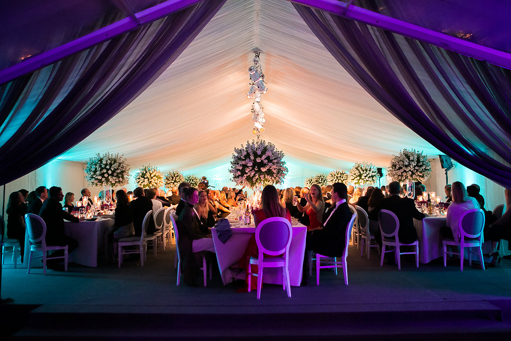 Looking through to dining marquee